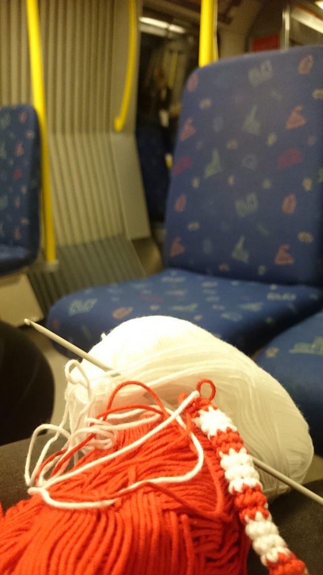 Virka på tunnelbanan.
