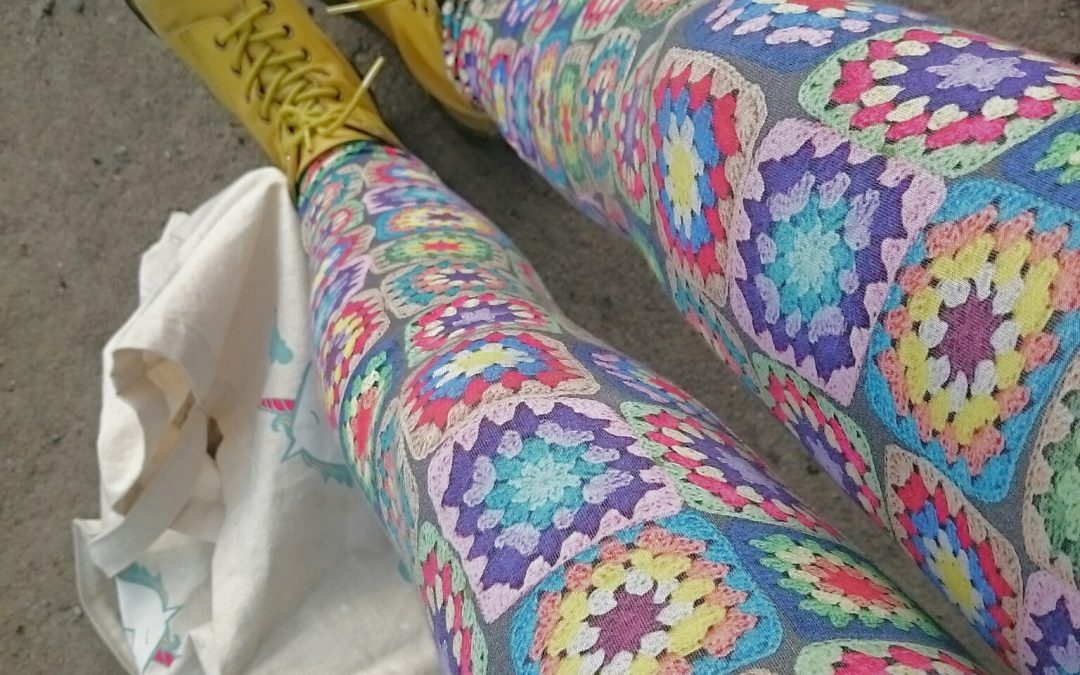 Tights med mormorsrutor