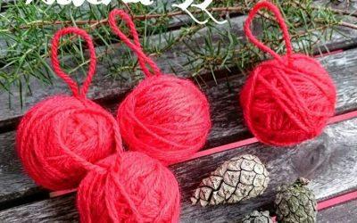 Lucka 22 – julgranskulor av garnnystan