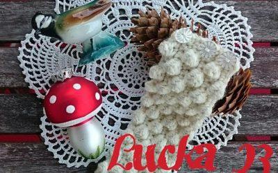 Lucka 23 – virkat armband med snöbollar