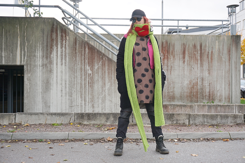 Lång virkad halsduk – mönster
