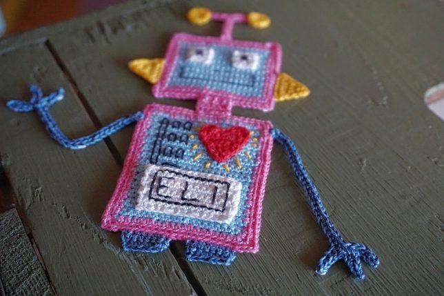 mönster på virkad robot