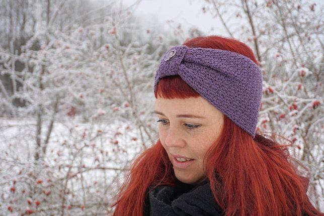 Brain freeze - mönster på virkat pannband