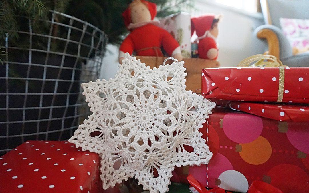 Virkade julstjärnor – virkmönster