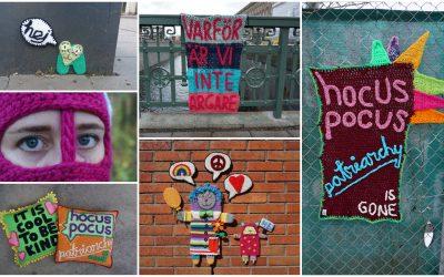 Vernissage för utställningen Speak your yarn