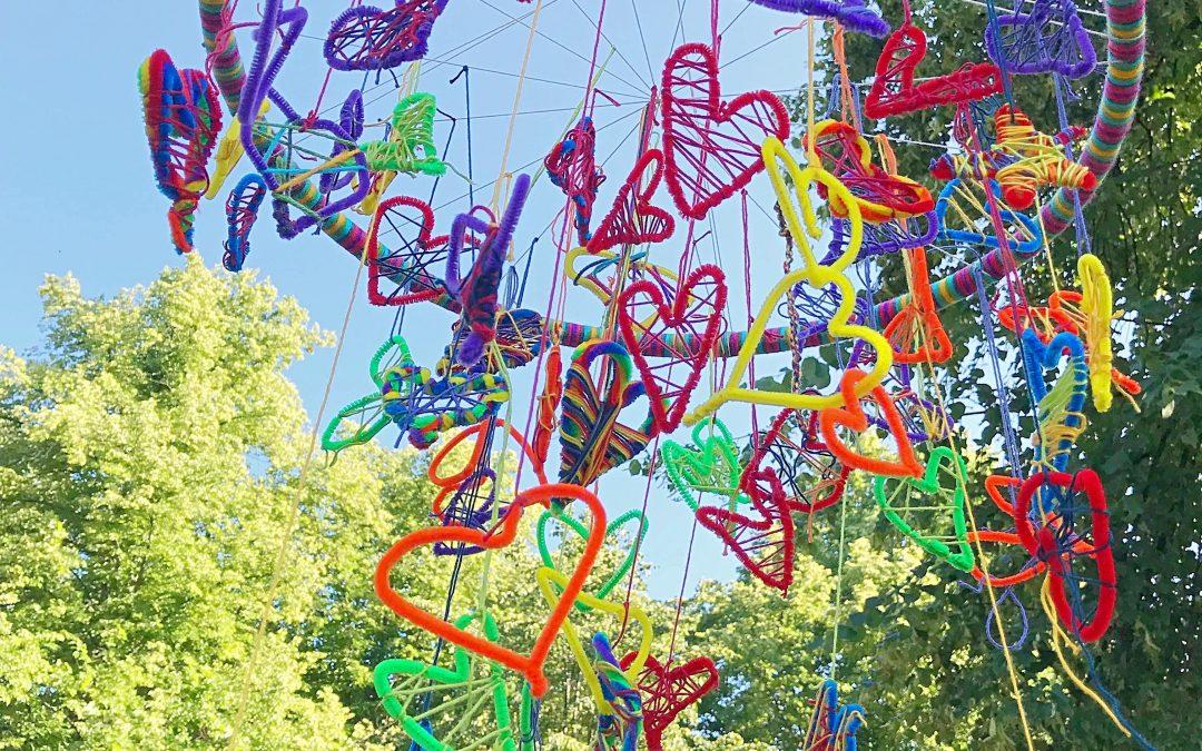 Heart piece, ett gemensamt textilt konstverk