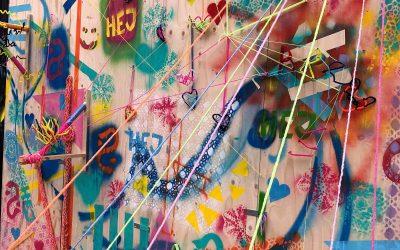 Workshop med garn och graffiti under ARTmovement Fair